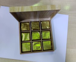 Home Made White Chocolate Cube Box
