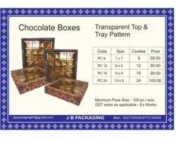 Pvc Transparent Chocolate Packaging Box