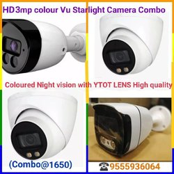 OEM 3 MP Starlight colour Vu camera Dome & bullet, Camera Range: 20 to 30 m