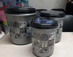 Round Printed Plastic Container
