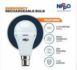 Plastic Nippo Led Bulb 9 Watt Emergncy Led, 4 Kv