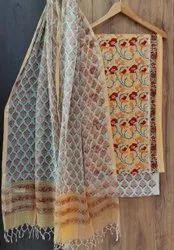 Ajrakh Block Printed Dress Material