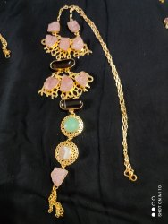 Rose Quartz Gold Plated Necklace