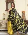 Bagru Print Cotton Mulmul Saree With Blouse Piece....