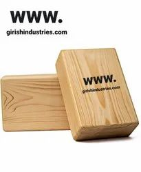 Yoga Pilates Brick Wooden Block for Yoga Support for Decent Poses (Solid)