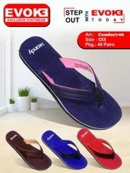 Rubberized Daily Wear Slippers Women Comfort Footwear, Size: 5*8