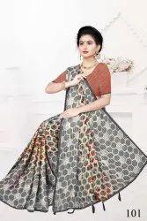 Satin Pata Printed Saree