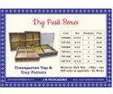 Pvc transparent Dryfruit box