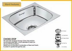 Glossy Stainless Steel Orange Kitchen Sink 18x16x8 Inchi