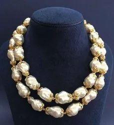 Baroque Pearls Silver Necklace