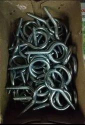 Iron White MS Hanging Hooks, Chrome