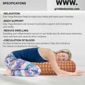 Yoga Bolster for Your Yoga Sessions (Filled with Buckwheat) Orange Colour