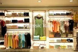 Stainless Steel Golden Display Rack, For Garments Display, Showroom, Model Name/Number: Klassic Gold