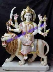 Marble Durga Mata Moorti