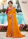 Ladies Vichitra Silk Sarees