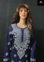Lucknowi Chikan Embroidered Kurti