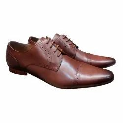 Tan Zara Pointed Leather Shoes