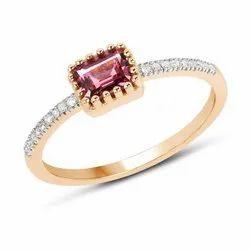 Brilliant Cut Women's 18kt Gold Diamond Ring, Size: 6 Us - 10 Us Size