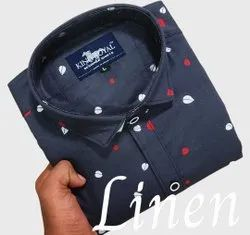 Male Printed Cotton Shirts