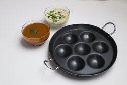 Modern Black Iron Paniyaram Pan, For Kitchen