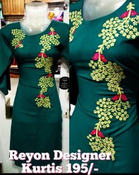 Ladies  Round Neck Embroidery Kurti