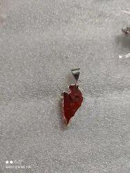 Arrow silver plated pendant