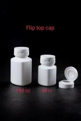 Tablet Container with Flip top cap