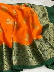 Festive Wear 4 colour Banarasi Handloom Silk Saree