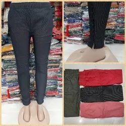 Girls Stylish Cigarette Pant , ladies zari pant , woman cotton stretch pant