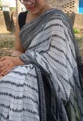 Khadi Peacock Weaved Jamdani Sareed