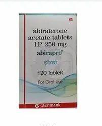Abiraterine Acetate Abirapro 250 Mg Tablet, Glemdmark pharma, 120 Capsule In Bottle