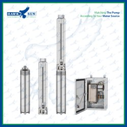 6 5HP AC SS Solar Submersible Pump With Controller