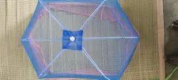 Blue 6 Ribs Baby Umbrella Mosquito Net