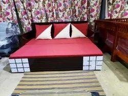 Nissi Oak Wood Sofa cum bed, Size: 6.8 X 5.2 Feet