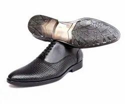 Formal Men Black Party Wear Leather Shoes