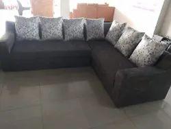 Wooden Black Designer Sofa Set, For Home, Hall