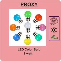 Proxy 1 Watt Color LED Bulb, For Home, -5 To 60 Degree