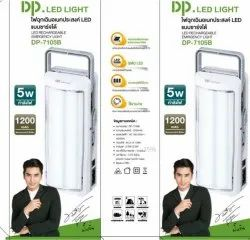Plastic Cool White DP 7105B LED EMERGENCY LIGHT RECHARGEABLE, Battery Type: Lithium Ion, Capacity: 1200MAH