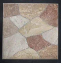 Beige Red Modern Elevation Tile Ceramic Floor Tile, Thickness: 5-10 mm