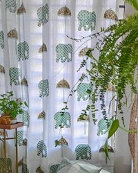 Handblock Printed Curtains