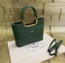 Pu Leather Yellow Parada Handbag