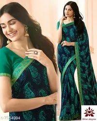 Border Casual Wear Designer Saree with Blouse Piece