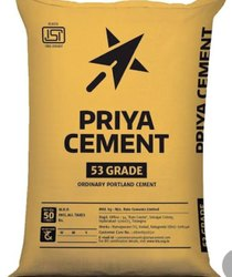 Yellow Priya Opc 53 Grade, Packaging Size: 50kg