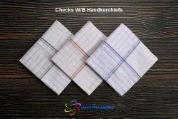 Checks White Border Handkerchiefs
