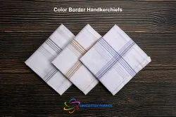 White Color Border Handkerchiefs