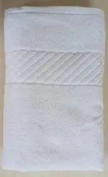 White Plain Cotton Spa Towel, 450-550 GSM, Size: Bath