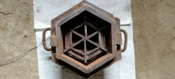 Mild Steel Six Round Interlocking Brick Die Mould, Size: 60mm