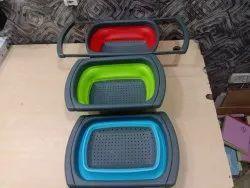 Silicon Foldable Vegetable Fruit Wash Tray