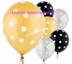 Metallic polka dots balloons