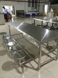 202 Stainless Steel Dining Table 8 Seater